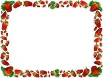 ramowe truskawki Zdjęcia Royalty Free