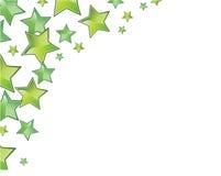 ramowe zielone gwiazdy Zdjęcie Royalty Free