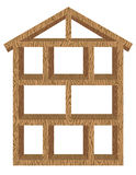 ramowego domu drewno Obraz Royalty Free