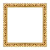 Ramowego rocznika obrazka ramy pusty drewniany rzeźbiący odosobniony na whit fotografia royalty free