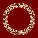 Ramowego round meanderu antyczny wzór Zdjęcie Royalty Free