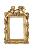 ramowego złota odosobniony obrazka biel Obrazy Stock