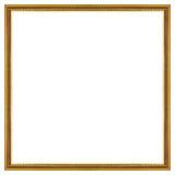 ramowego złota odosobniony obrazka biel Obraz Stock