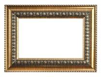 ramowego złota odosobniony obrazka biel Odizolowywający na bielu Zdjęcie Royalty Free