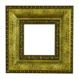 ramowego złota odosobniony obrazka biel Zdjęcia Stock
