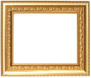 ramowego złota odosobniony obrazka biel Zdjęcie Stock