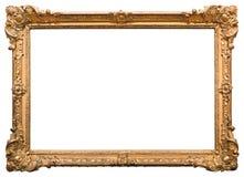 ramowego złota odosobniony obrazka biel Fotografia Stock