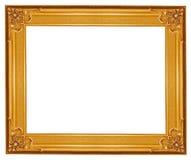 ramowego złota odosobniony obrazka biel Zdjęcia Royalty Free
