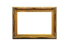 ramowego złota odosobniony obrazka biel Obrazy Royalty Free
