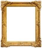 ramowego złota odosobniony obrazka biel Fotografia Royalty Free
