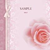 ramowego zaproszenia różany ślub Obrazy Royalty Free