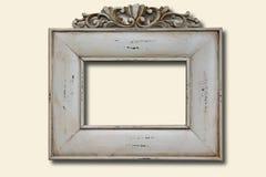 ramowej fotografii biały drewniany Obrazy Royalty Free