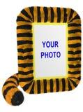 ramowej fotografii tygrysi vertical fotografia stock