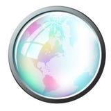 ramowej kuli ziemskiej glansowany inside Zdjęcia Stock