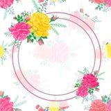 Ramowi abstraktów kwiaty wzrastali 2-01 Zdjęcie Stock
