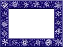 ramowi płatki śniegu ilustracja wektor