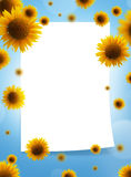 ramowi papierowi słoneczniki Obrazy Royalty Free