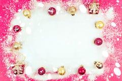 Ramowy śnieg robi odczucia zimnu Ideał używa jako ilustracja lub p, Zdjęcie Stock
