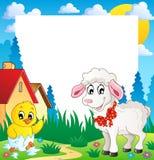 ramowy 4 temat Easter Zdjęcie Stock