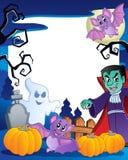 ramowy 6 temat Halloween royalty ilustracja
