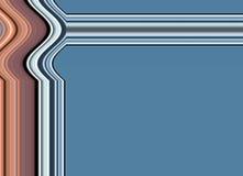 Ramowy błękitny tło z liniami Zdjęcia Stock