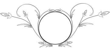 ramowy balck owal ilustracji