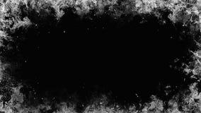 Ramowy biały płomień Rabatowy dymny mgły tekstury skutek dla filmu, teksta lub przestrzeni, ilustracja wektor