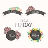 Ramowy Black Friday dla typografii Obraz Royalty Free