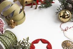 Ramowy boże narodzenie ornament Fotografia Royalty Free