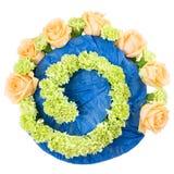 Ramowy bukiet świezi kwiaty, trend nowożytny floristry Zdjęcie Royalty Free