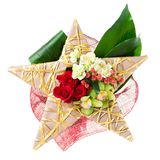 Ramowy bukiet świezi kwiaty, trend nowożytny floristry Obraz Stock