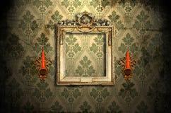 ramowy candlestick złoto Zdjęcia Royalty Free