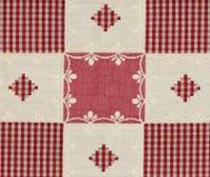 ramowy czerwony vichy Fotografia Royalty Free
