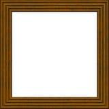 Ramowy drewniany 3d grunge odizolowywający na bielu Obrazy Royalty Free
