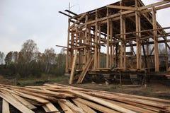 Ramowy drewniany dom fotografia stock