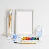 Ramowy egzamin próbny Up z Watercolour Fotografia Stock