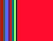 Ramowy geometryczny czerwony tło z figlarnie liniami Zdjęcie Stock