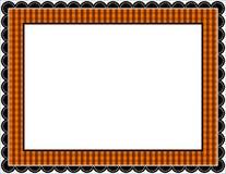 ramowy gingham Halloween Zdjęcie Stock