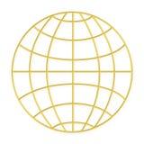 ramowy globe złota przewód Obrazy Royalty Free