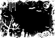 ramowy grunge Halloween ilustracja wektor