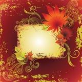 ramowy grunge leafs dziękczynienie wektor Fotografia Royalty Free