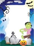 ramowy Halloween fotografii miejsca teksta wektor twój Fotografia Stock