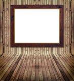 ramowy interrior dopasowywająca sosnowa deska Zdjęcia Royalty Free