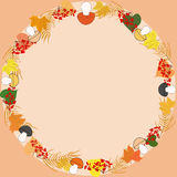 ramowy jesień round zdjęcie royalty free