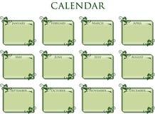 Ramowy kalendarzowy rocznika styl Zdjęcie Royalty Free
