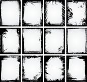 ramowy kolekci grunge ilustracja wektor