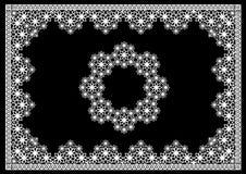 Ramowy koronka kwiatów okrąg Fotografia Stock