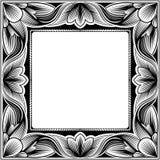 ramowy kwadratowy rocznik Zdjęcia Stock