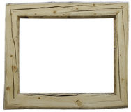ramowy nieociosany drewno Obraz Royalty Free