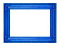 Ramowy obrazek ramy drewniany Rzeźbiący wzór odizolowywający na biali półdupki Obraz Royalty Free